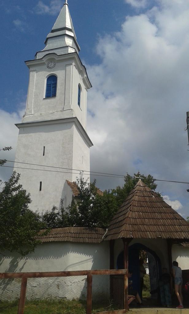 Miejscowość nieznana. Typowy transylwański kosciół
